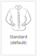 The standard shirt placket