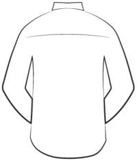 custom tailored shirts - back design