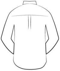 custom tailored shirts - box pleat back design