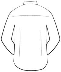 custom tailored shirts - darts back design